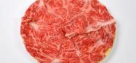 国産黒毛和牛しゃぶしゃぶ 黒毛和牛の豪華なお肉です。